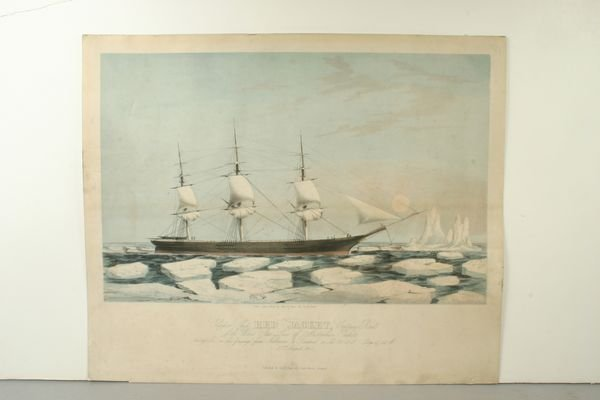 1074: ISAAC,CLIPPER RED JACKET,TINTSTONE LITHO,C.1855