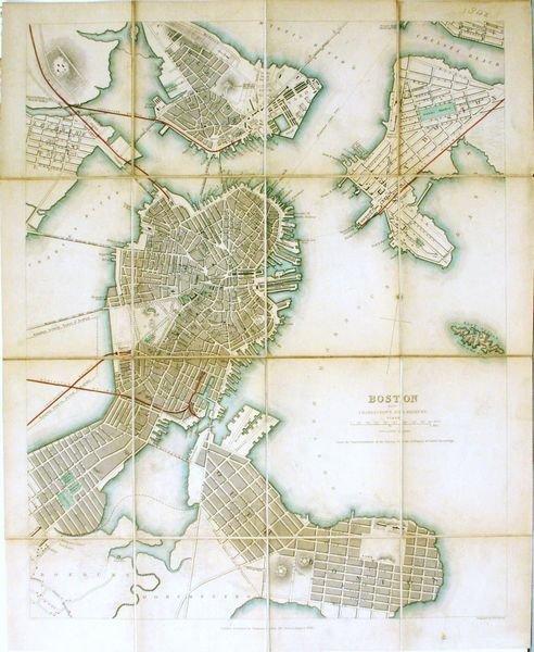 1127: SDUK, BOSTON MAP, ENGRAVING, C.1842