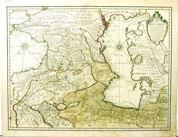 1134: CARTE DES PAYS CASPIENE, HC ENGR, C.1740