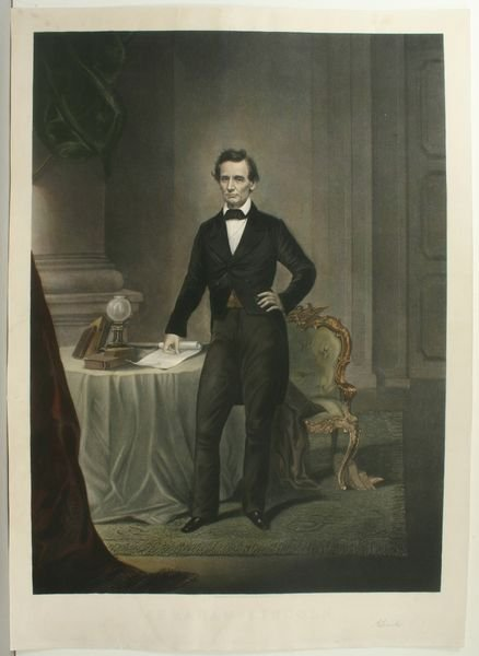 1274: LINCOLN AND HIS FAMILY, LITHOGRAPH, C.1865