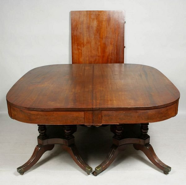 2001: EARLY 19th CENTURY DUNCAN PHYFE DINING TABLE