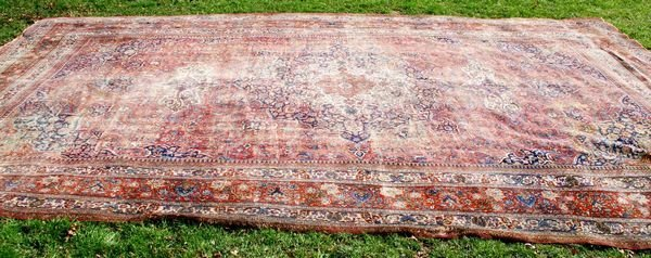 """2005: 19th C. PERSIAN MASHED RUG, 22' 10"""" X 13'"""