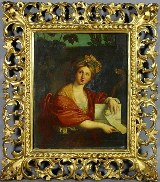 2019: 18th CENTURY ITALIAN, SEATED WOMAN, O/C