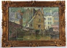 Gordon Dean Smith, House on Quay, Dinard, Oil on Canvas