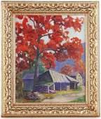 Edith Lyman Signed, Vermont Farm, Oil on Canvas