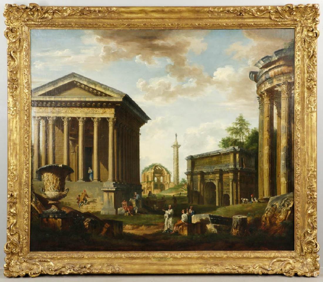 Giovanni Paolo Panini, Capriccio Ruins, Oil on Canvas