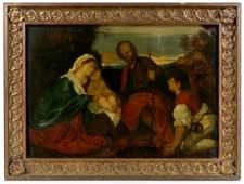 18th19th C Italian School Oil on Canvas