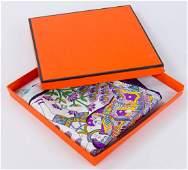 Large Hermes Silk Scarf w Box