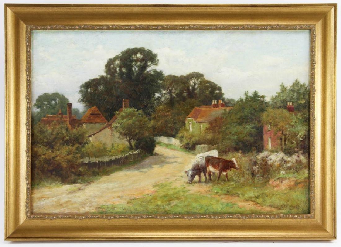 H.J. Yeend King, Landscape w/ Cows, Oil on Canvas