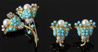 Fine 18k Gold Suite of Persian Jewelry