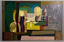 John Atherton, Artist Kitten, Oil on Canvas