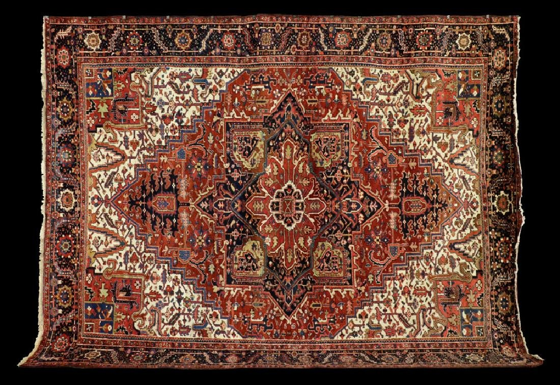 Large Palace Size Antique Persian Heriz Rug