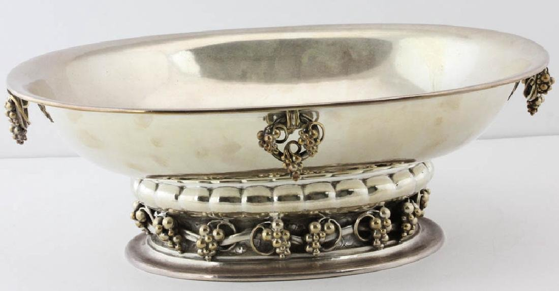 Georg Jensen Sterling Footed Centerbowl