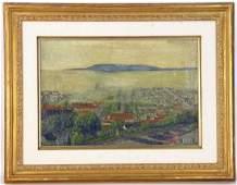 Fredrick Burt Signed Valley Mist Oil on Canvas