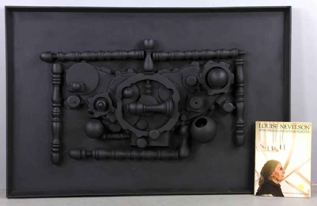 "Louise Nevelson, ""The Dark Ellipse"", Wall Sculpture"