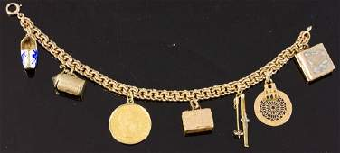 Antique 14k Gold Charm Bracelet