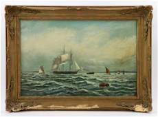 Williams, Ships Under Sail, Oil on Canvas