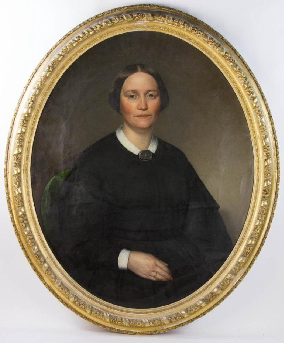 Portrait of Lady, Oil on Canvas, Signed Haskell
