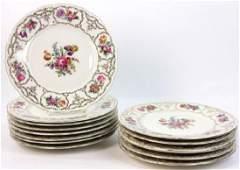 (14) C1950 Czechoslovakia Porcelain Plates