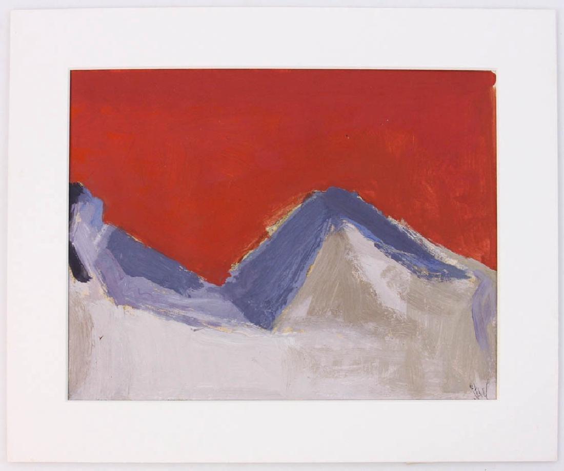 Nicolas de Stael, Blue Nude, Oil on Paper