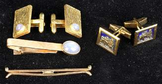 Collection of Mens 18k and 14k Gold Jewelry