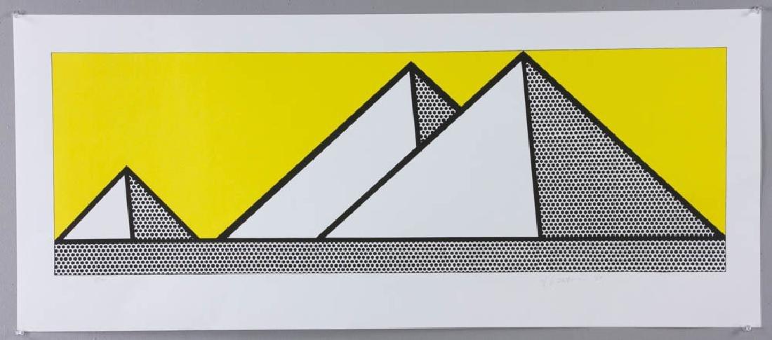 Roy Lichtenstein, Pyramids, Color Lithograph