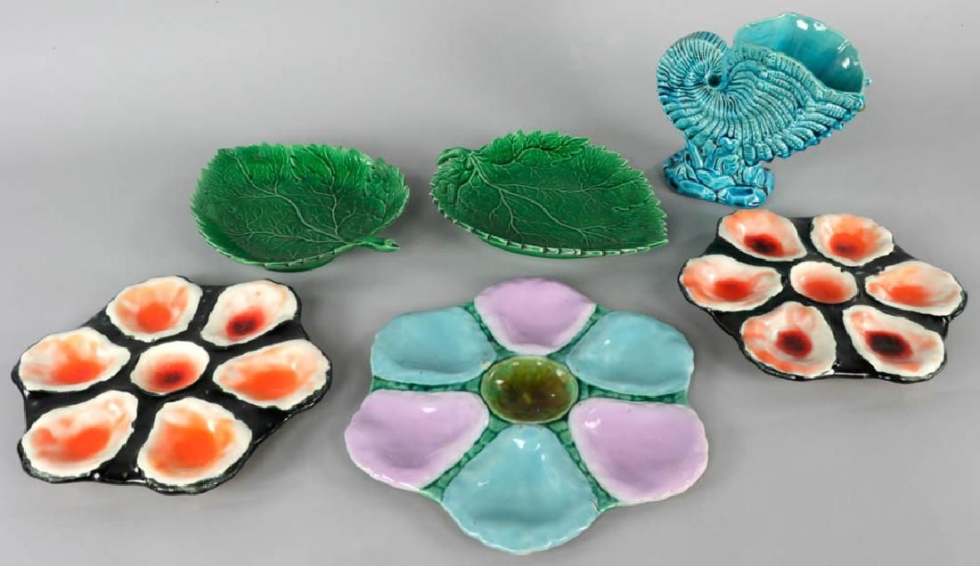 Collection of Majolica Pottery Pieces