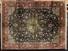 Fine Persian Isfahan Silk Carpet