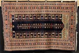 Semi-Antique Turkish Prayer Carpet