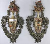 19th C Italian Floral Wall Sconces