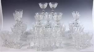 Two Sets of Scottish Crystal Stemware