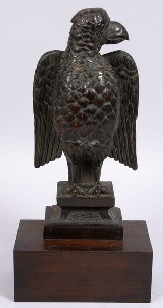 3009: 19TH C. CARVED STANDING EAGLE