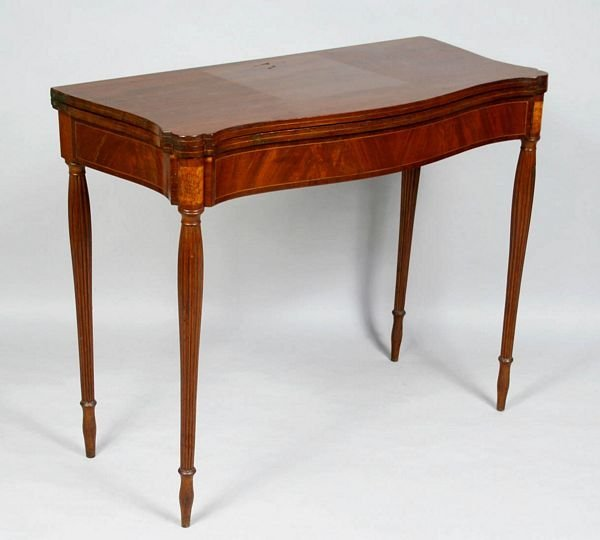 3016: EARLY 19th C. BOSTON OR SALEM CARD TABLE