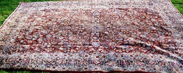 3024: EARLY 20th C. PERSIAN GAZVIN RUG, 12' X 8' 11""
