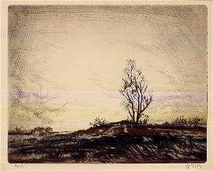 TWO SIGNED LESTER G. HORNBY ETCHINGS