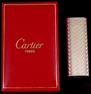 CARTIER STERLING LIGHTER IN ORIGINAL BOX