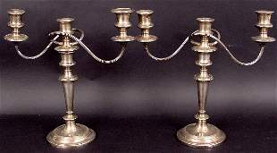 PAIR OF EARLY SHEFFIELD PLATED CANDLESTICKS