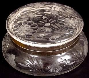 AMERICAN CUT GLASS DRESSER BOX