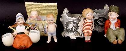 256: LOT OF LATE 19TH/EARLY 20TH C. BISQUE FIGURES