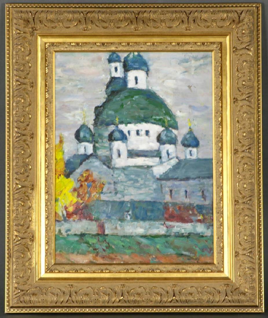 Russian Orthodox Church Oil on Cnavas