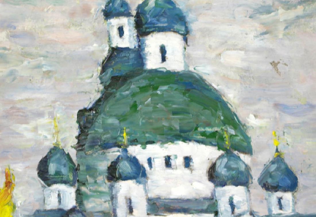 Russian Orthodox Church Oil on Cnavas - 2