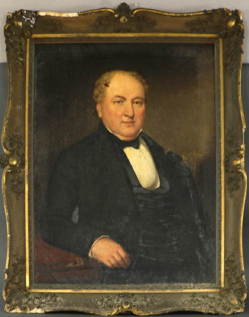 19th C. Portrait of A Gentleman in Giltwood