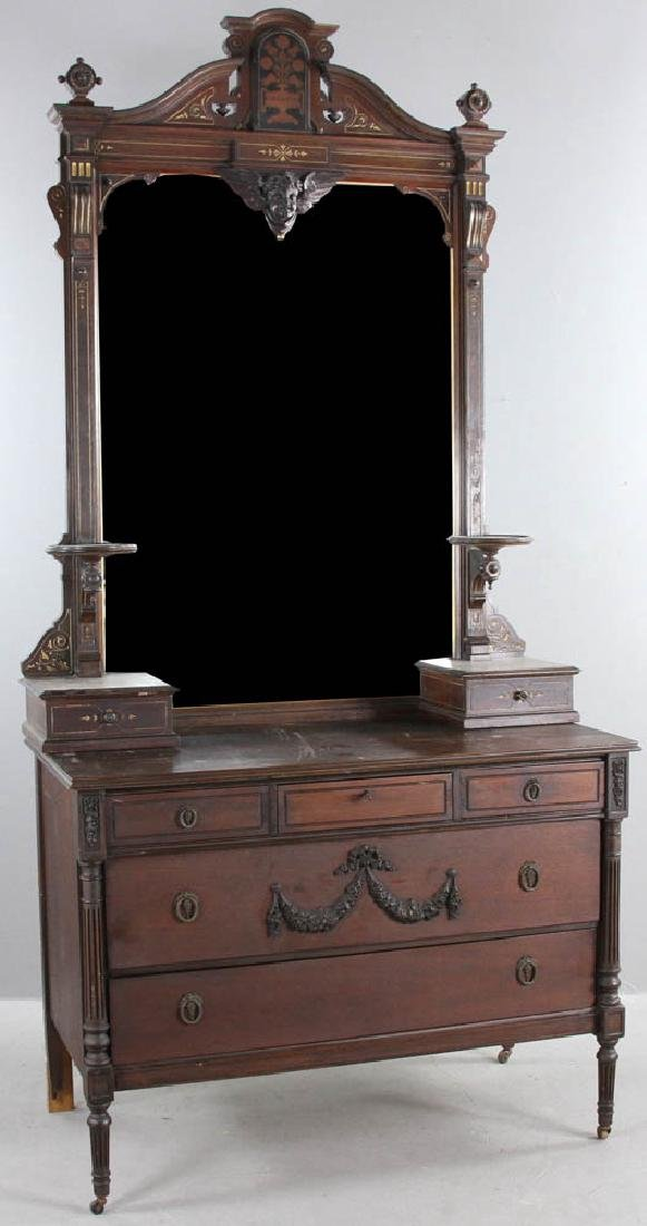 Victorian Chest with Mirror