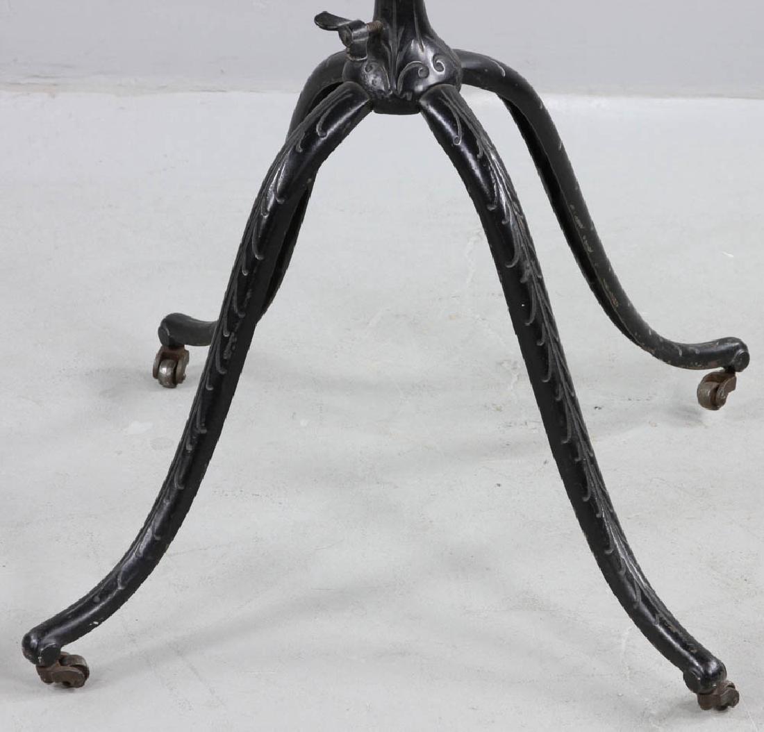 Antique Oak Book Stand Cast Iron Base - 8