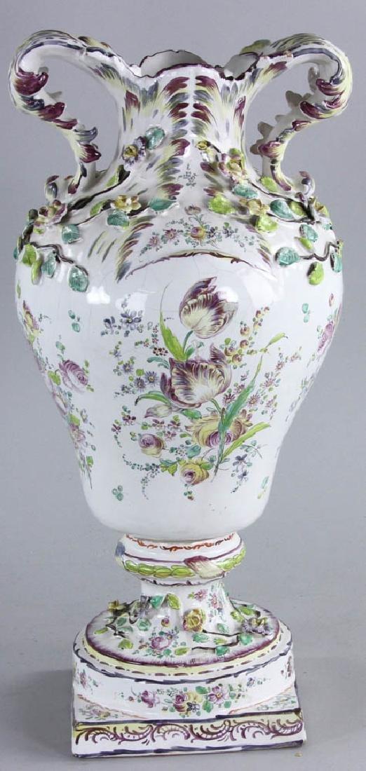 19th C. Faience Vase