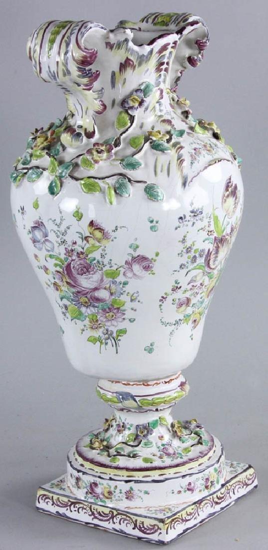 19th C. Faience Vase - 2