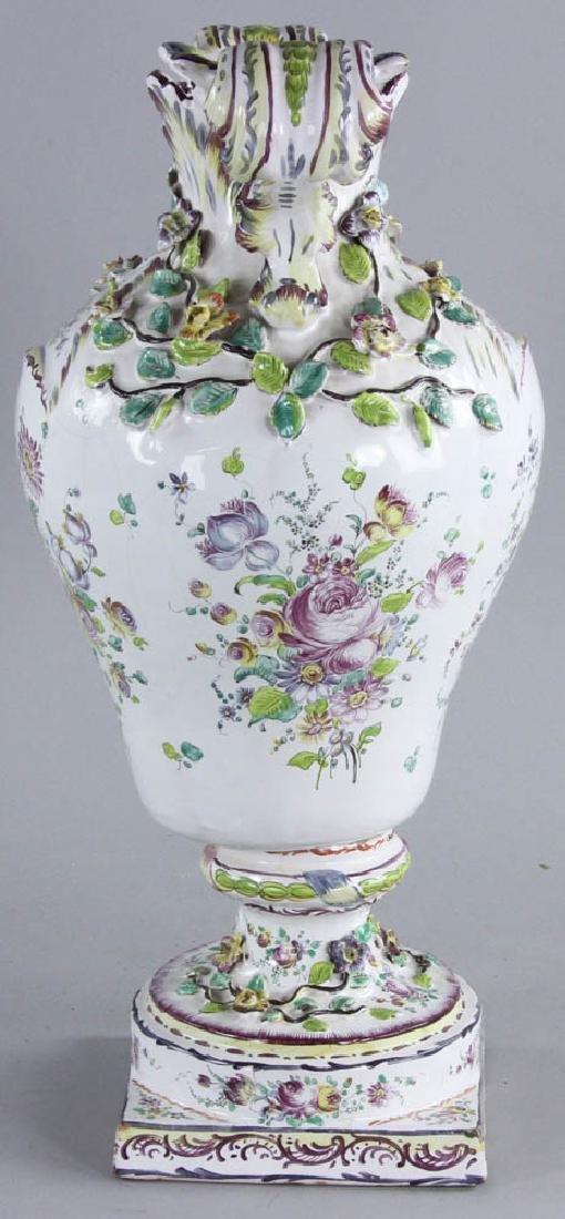 19th C. Faience Vase - 3