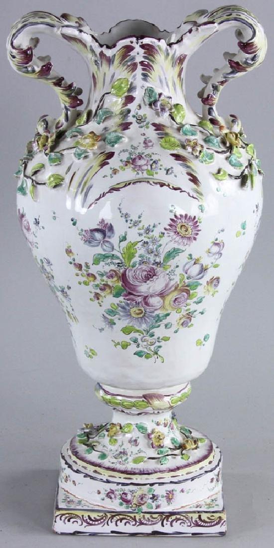 19th C. Faience Vase - 4