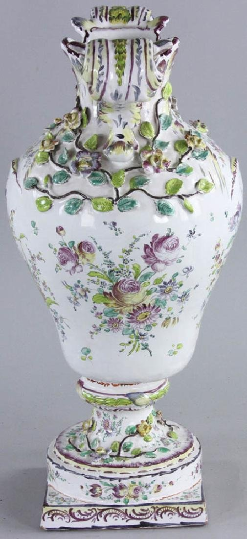 19th C. Faience Vase - 5