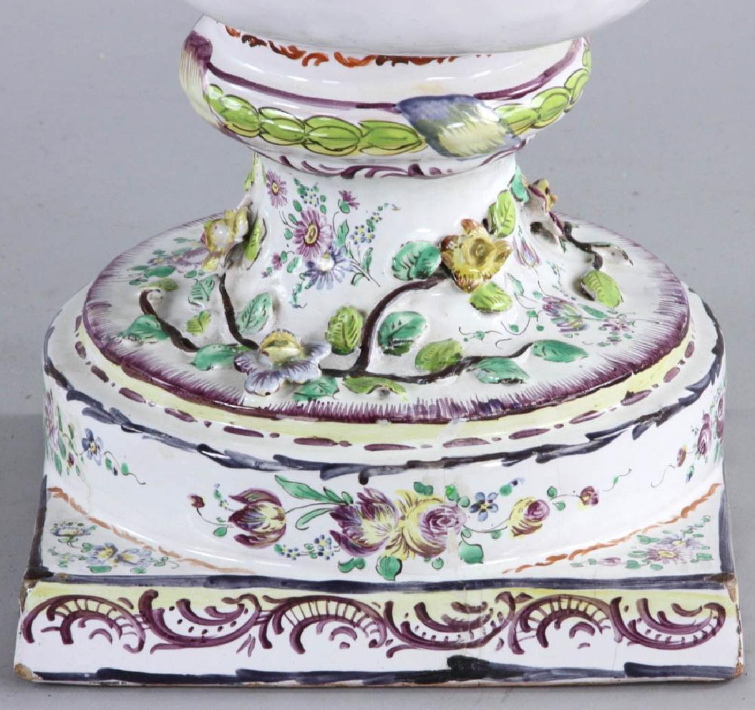 19th C. Faience Vase - 6